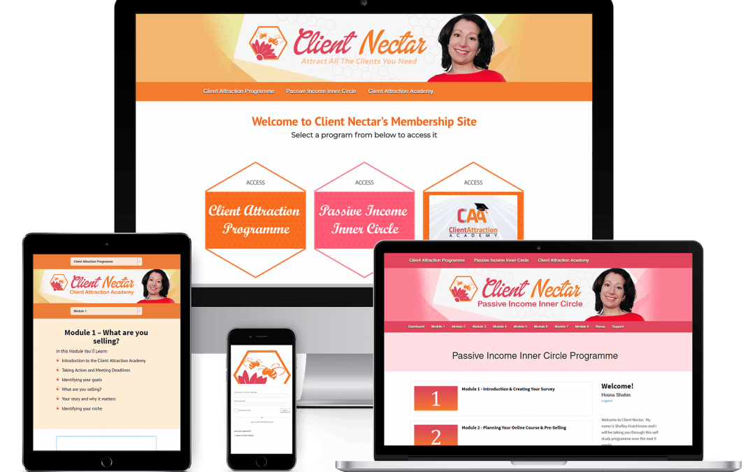 Client Nectar Membership Site