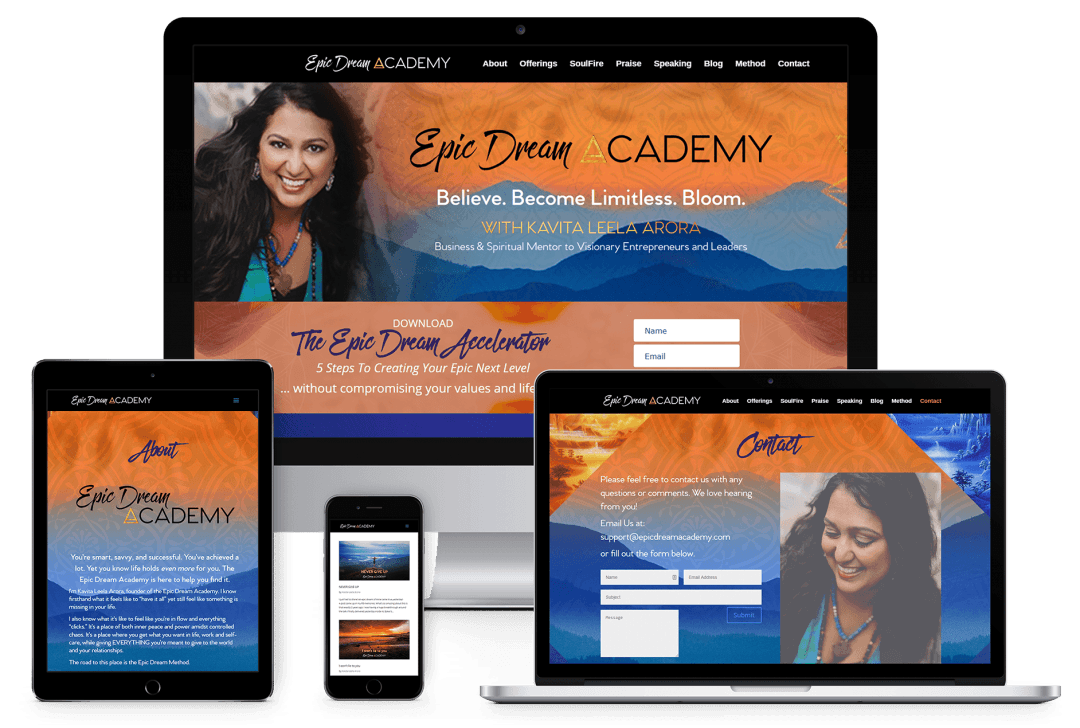 Epic Dream Academy Website