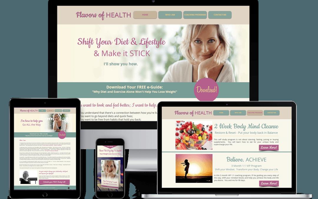 Flavor of Health Website Rehaul